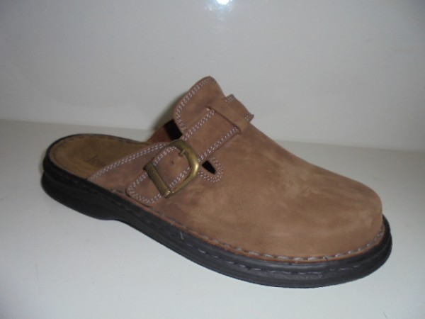 10122 Josef Seibel Herrenschuhe Clogs braun Leder Form Madrid