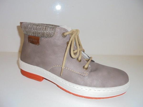 L6742 Rieker Damenschuhe Stiefelette Boots beige Warmfutter