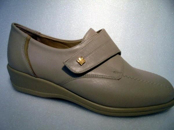 Goldkrone Klettverschluß beige Leder 21-55.056 Damen Schuhe