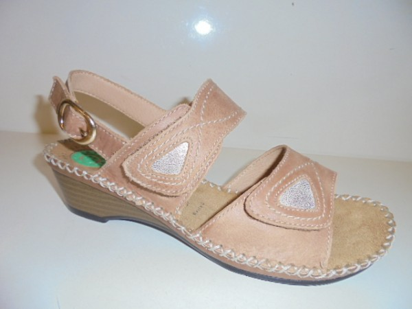 41720 Reflexan Damenschuhe Sandale Sandalette Leder braun