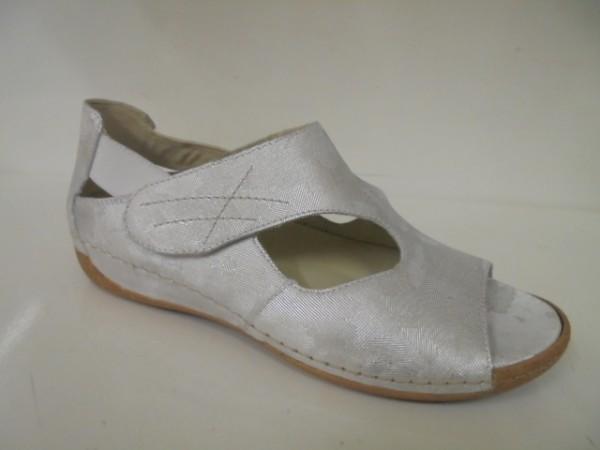 342004 Waldläufer Damenschuhe Sandale Leder für lose Einlagen silber