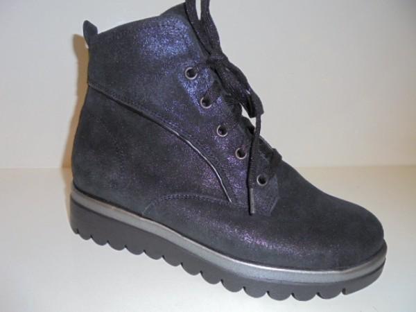 995805 Waldläufer Damenschuhe Boots Leder schwarz für Einlagen