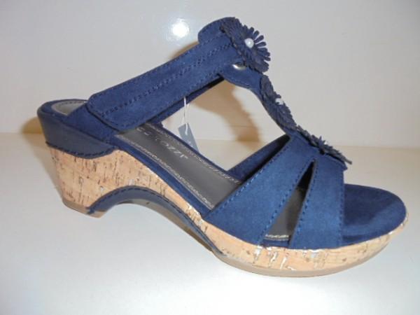 27213 Marco Tozzi Damenschuhe Sandalette Pantolette blau