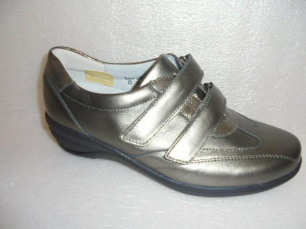 Waldläufer Damen Schuhe Klettverschluß Leder 305304 schiefer