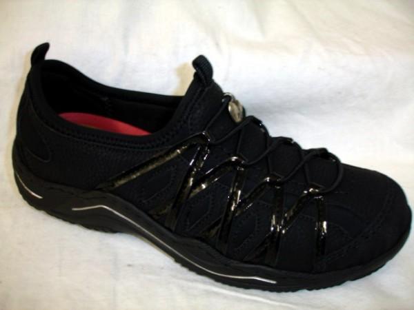 L0551 RIEKER Antistress Damenschuhe Sneaker schwarz für lose Einlagen
