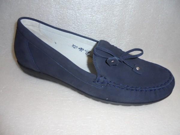 Waldläufer Damen Schuhe Slipper Mokassin Leder blau 329501