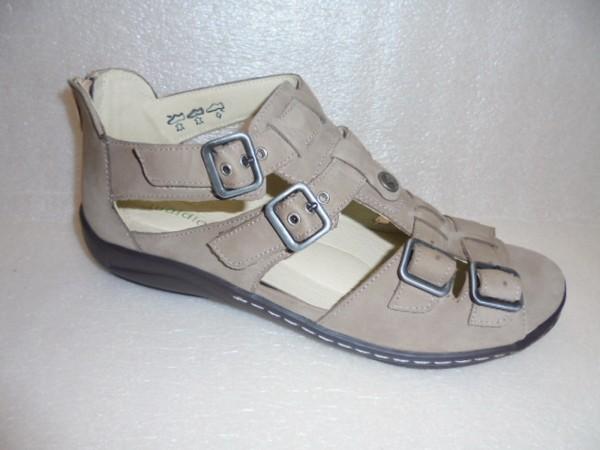 Waldläufer Damen Sandale Leder für Einlagen 582002 braun