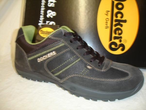 36HT004 Dockers Herrenschuhe Sneaker Schnürschuhe Leder/PU schokobraun