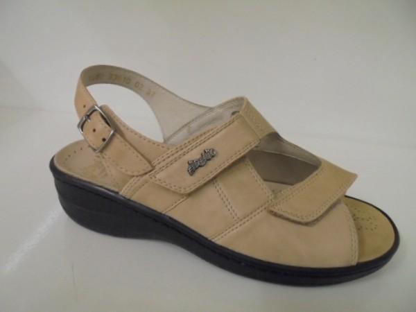 33610 Fidelio Damenschuhe Halluxstretch Sandale Leder beige für Einlagen