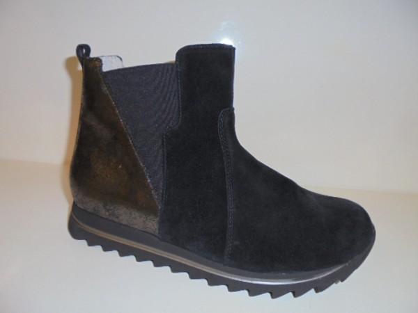 Waldläufer Damenstiefelette Boots Leder schwarz 923702