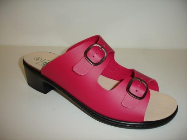 1446 Algemare Damenschuhe Pantoletten pink für lose Einlagen