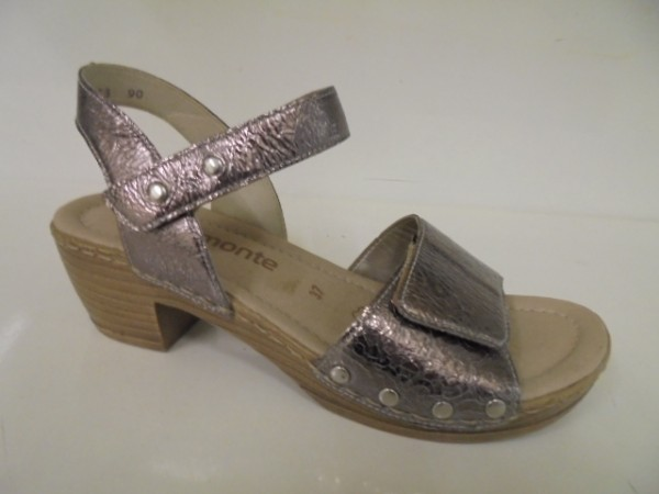 R7763 Remonte Damenschuhe Sandalette Leder metallic