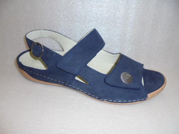Waldläufer Damen Sandale Leder 342002 marine