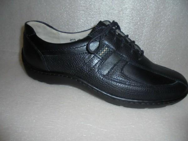 Waldläufer Damen Schuhe Schnürschuhe schwarz 496000 Leder
