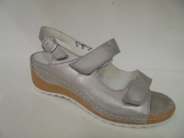 306002 Waldläufer Damenschuhe Sandale Leder lose Einlagen stein