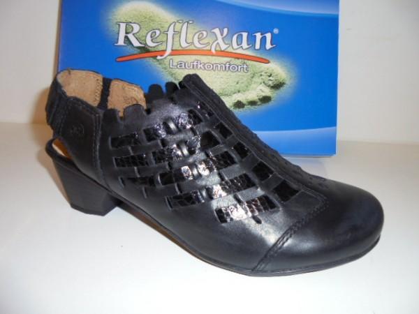 90860 Reflexan Damenschuhe Sabot Leder schwarz
