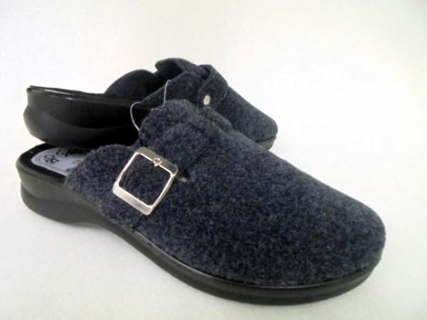 BIO Life Damenschuhe Hausschuhe Pantoffeln blau Textil