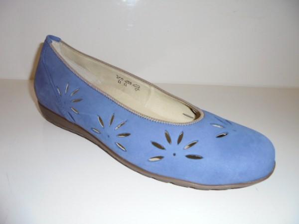 329502 Waldläufer Damenschuhe Ballerina Leder blau