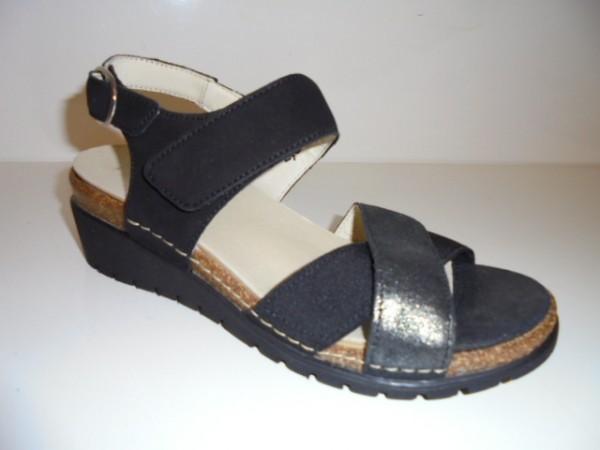 376001 Waldläufer Damenschuhe Sandale Leder lose Einlagen schwarz