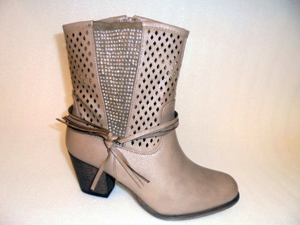 200692 Conway Damenschuhe Stiefel Boots Kunstleder taupe