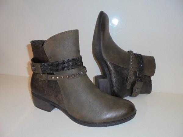 25306 Marco Tozzi Damen Stiefelette Boots khaki