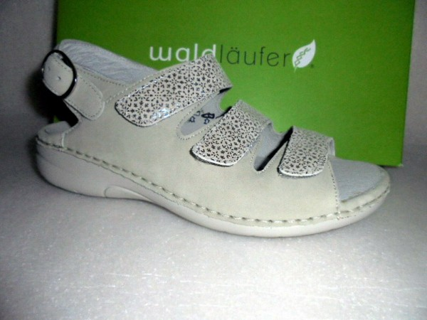Waldläufer Sandale Sandalette Wechselfußbett Leder beige 204003