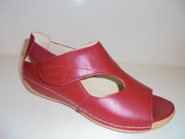 342004 Waldläufer Damenschuhe Sandale Leder für lose Einlagen rot