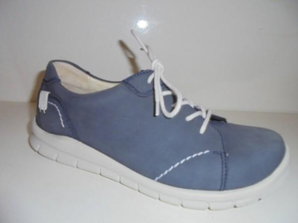 359001 Waldläufer Damenschuhe Schnürschuhe Leder blau