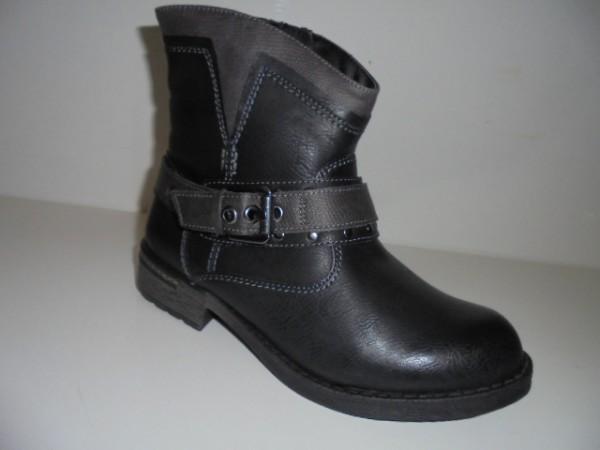 10450 Reflexan Damenschuhe Stiefeletten Reißverschluß schwarz