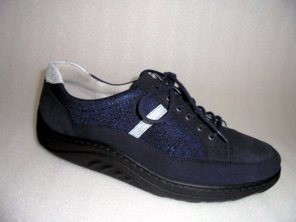 502001 Waldläufer Damenschuhe Schnürschuhe Leder blau Dynamic