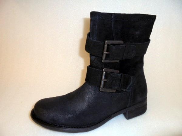KA11944139 SPM Damen Stiefelette Boots schwarz Leder