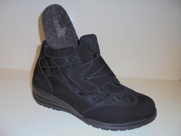 631903 Waldläufer Damenschuhe Stiefelette Nubukleder Textil schwarz d9b0138601