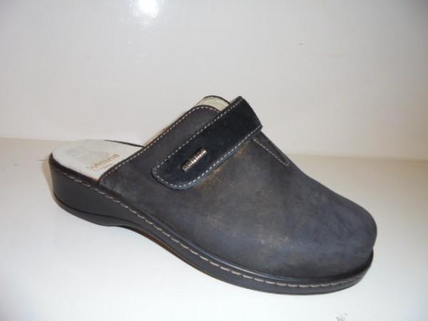 255002 Fidelio Damenschuhe Clogs schwarz-messing Leder für Einlagen