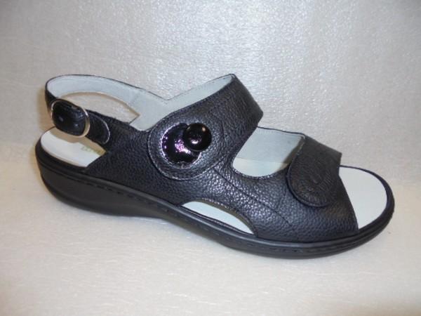 Waldläufer Damen Sandale Leder lose Einlagen 408004 schwarz