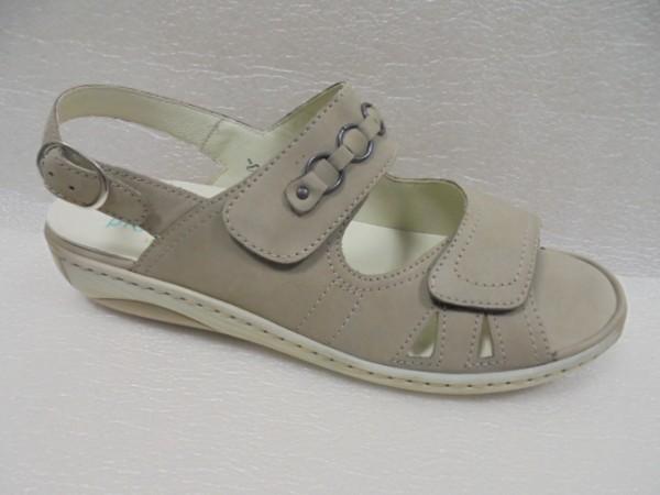 Waldläufer Damen Sandale Leder 210004 beige für Einlagen