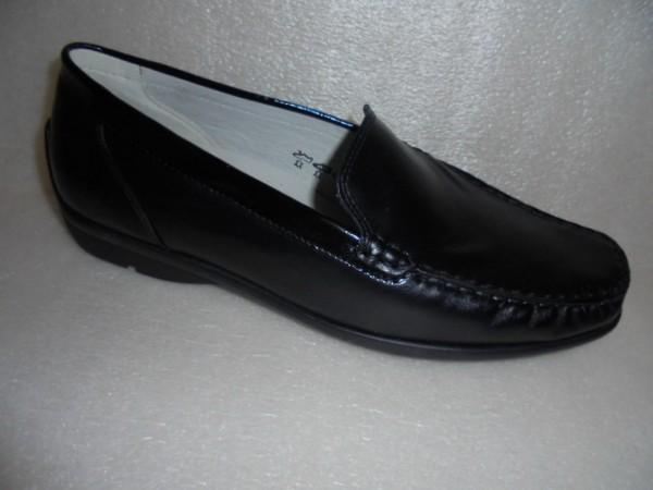 431000 Waldläufer Damen Schuhe Slipper Mokassin Leder schwarz