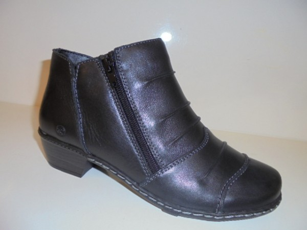 30820 Reflexan Damenschuhe Stiefeletten Echtleder Reißverschluß schwarz