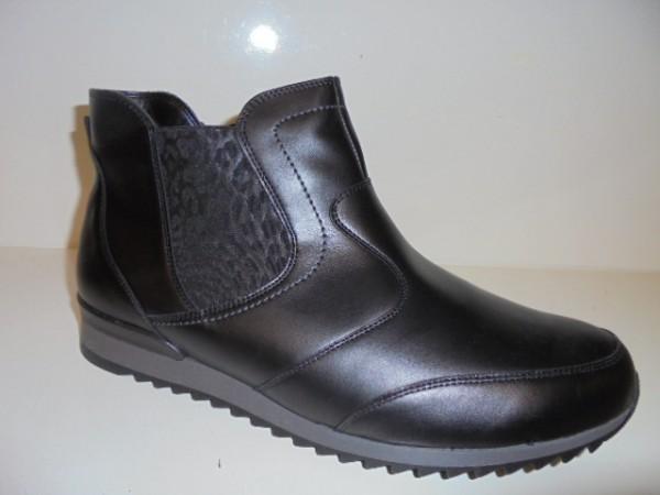 370803 Waldläufer Damenstiefelette Boots Leder schwarz